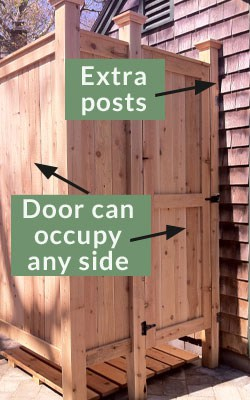 shower kit enclosure doors/posts