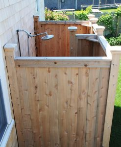 outdoor shower cedar kit