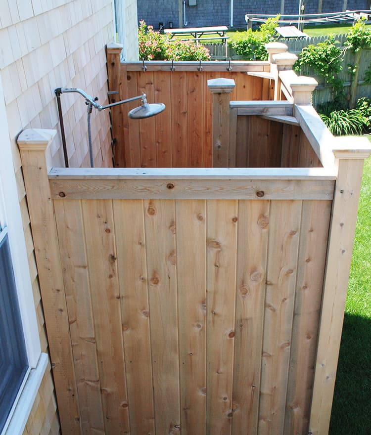Cedar Outdoor Shower Enclosures Stonewoodproducts Com