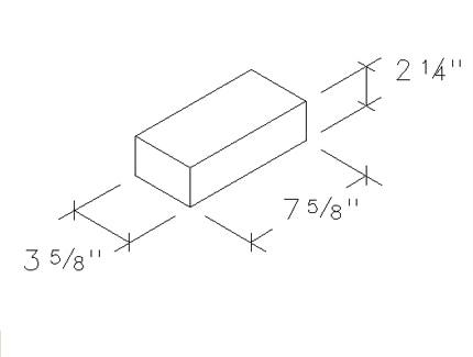 2x4x8 concrete brick solid