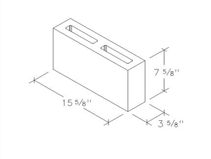 4 inch 2 core cinder block