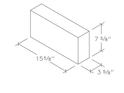 4 inch solid cinder block