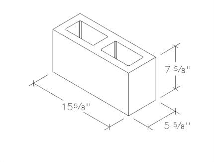 6x8x16 concrete brick 2 core