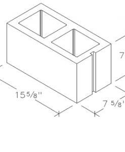 8x8x16 concrete brick 2 core