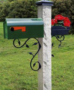 mailbox bracket black leaf