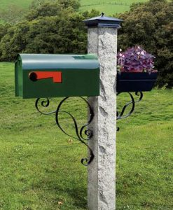 mailbox bracket black curves