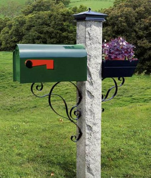 mailbox bracket black curves