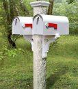 Mailbox-white-post