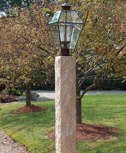Antique granite lamp post