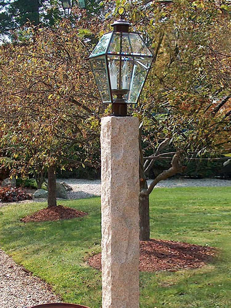 Antique Granite Lamp Post Cape Cod Ma Ri Ct