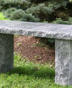 charcoal granite bench 40 inch