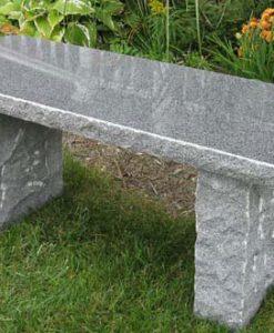 charcoal granite bench