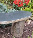 curved 48 inch boulder bench