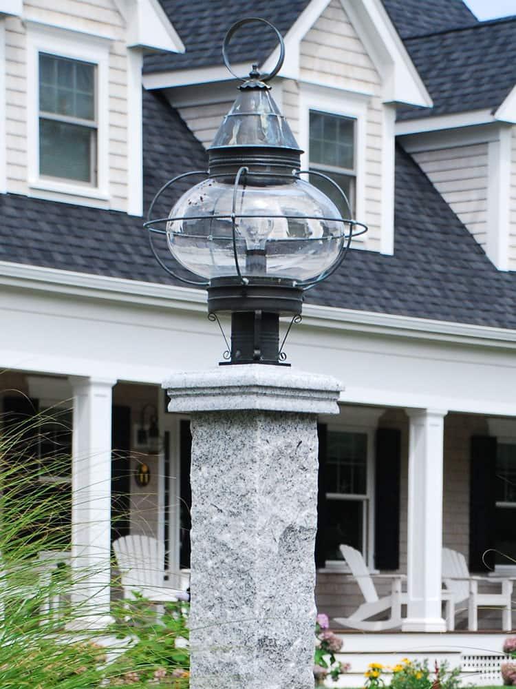 Lamp Post Cap Granite Or Wood Stonewood Products