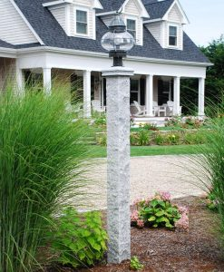 granite lamp post round lamp