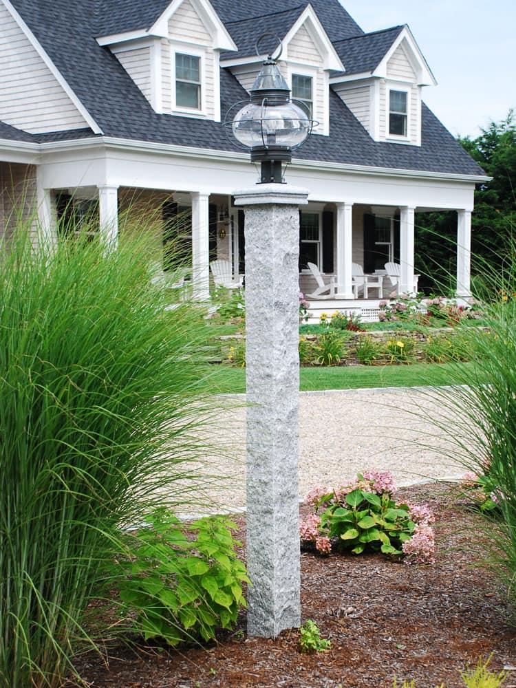 Antique granite lamp post cape cod ma ri ct granite lamp post round lamp mozeypictures Gallery