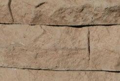 brown ledge stone fire pit