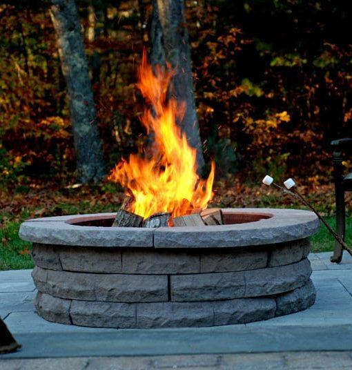 nantucket ledgestone firepit