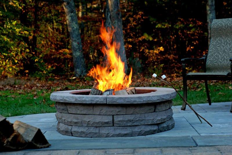 stone fire pit kit wood burning nantucket ma ri ct