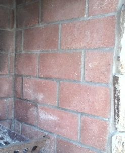 red fire brick installed