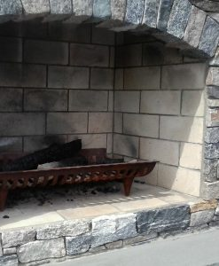 White Fire Brick in Fireplace