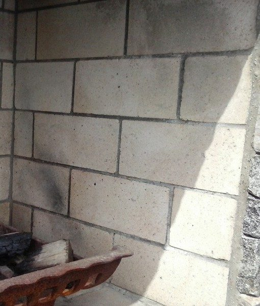 white firebrick installed