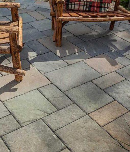 Blu 60mm stone pavers Champlain Grey