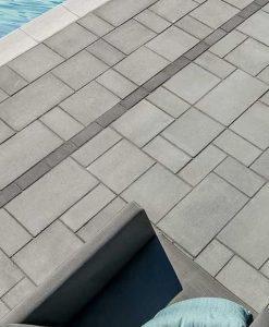 Blu 60mm stone pavers Shale Grey Smooth