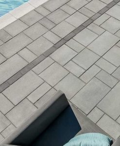 Blu 60mm stone pavers Shale Grey Smooth