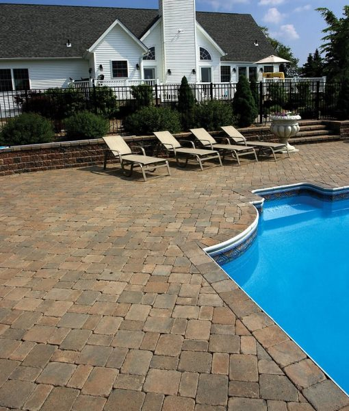 Stone Pavers Pool Cape Cod Sierra