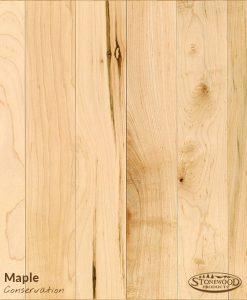 conservation maple w/ polyurethane finish