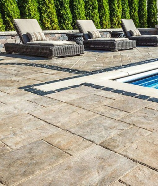 stone pavers pool patio Cape Cod Bourne Chatham Islands