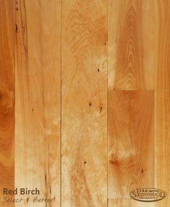 red birch conservation grade w/ tung oil