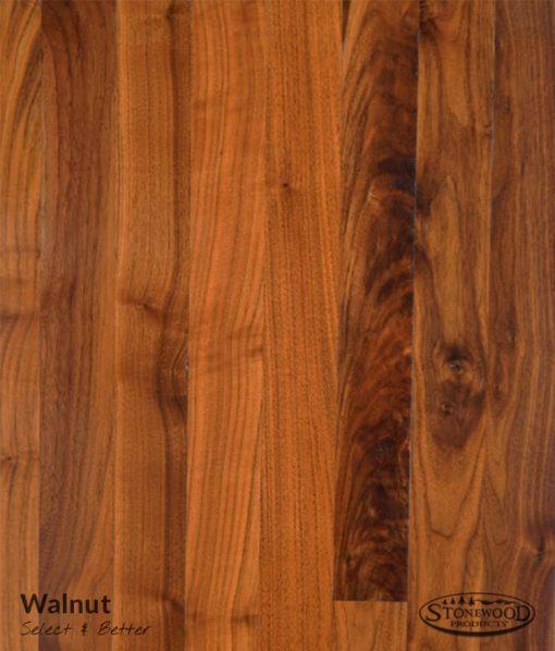 Solid Hardwood Walnut S&B Grade Flooring
