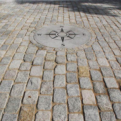 antique reclaimed cobblestone patio