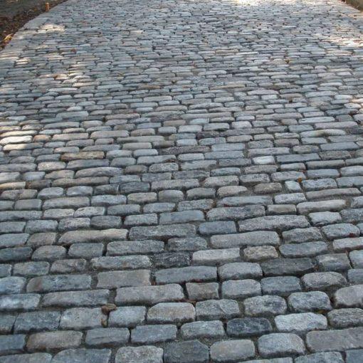 antique cobblestone walkway