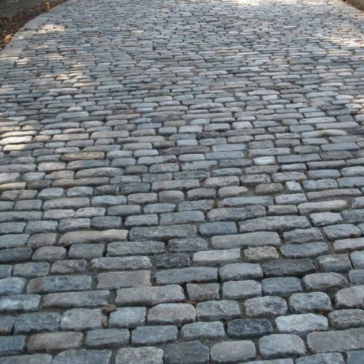 antique cobblestone walkway