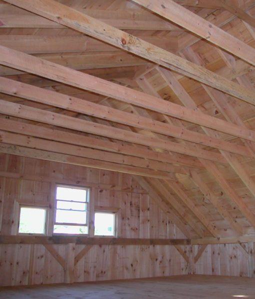 2x beams barn