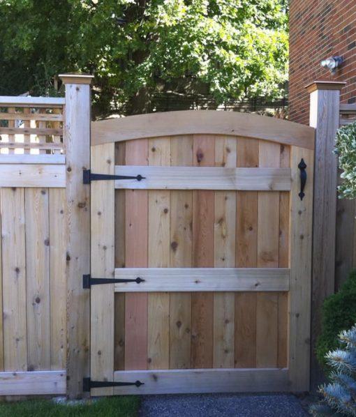 cedar board fence