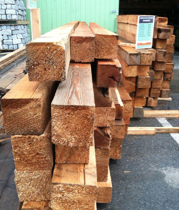stock cedar landscape timbers - Cedar Landscape Timbers & Ties - 5