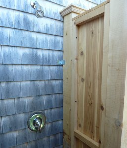 cedar shower post