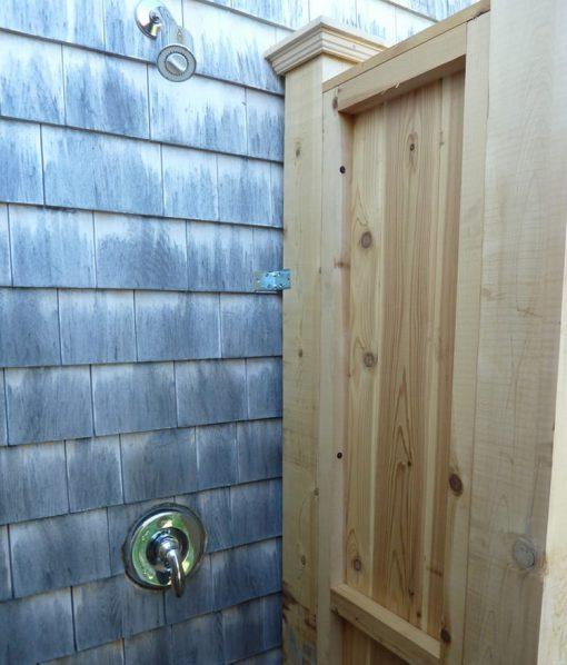 cedar post on shower