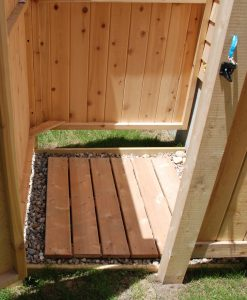 cedar shower floor