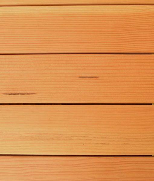 fir decking close up