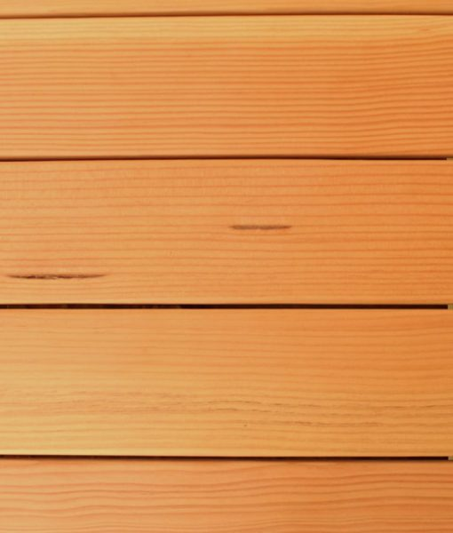 fir decking close up