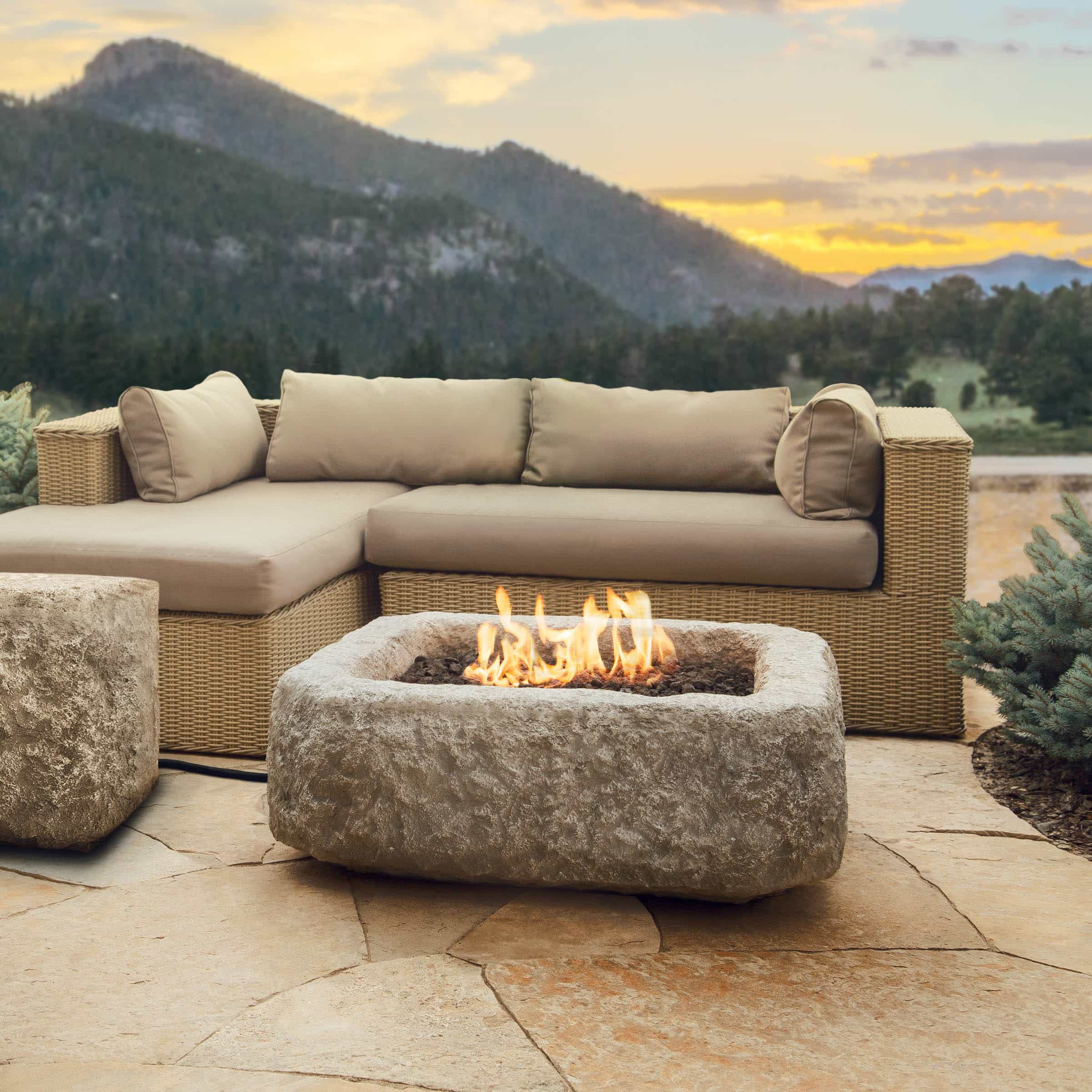 fire pits stone and regular kits gas wood powered stonewood