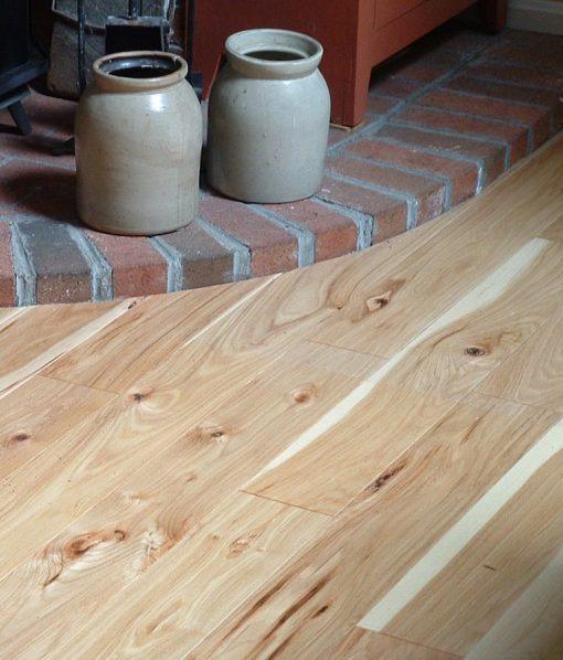 hickory flooring rustic