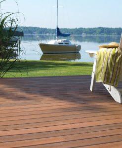 mahogany decking