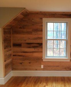reclaimed oak wallboard