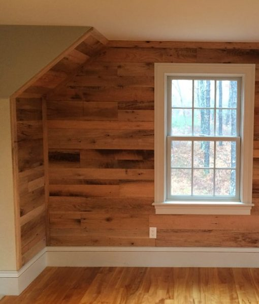 reclaimed oak wallboard